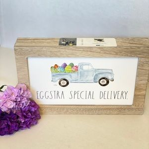 🐰NEW🐰 Rae Dunn EGGSTRA SPECIAL DELIVERY Sign